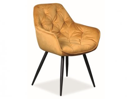 Židle Cherry samet černá kostra/kari Bluvel 68