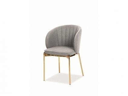 Židle Prado zlatá kostra/šedá polstrování č.156
