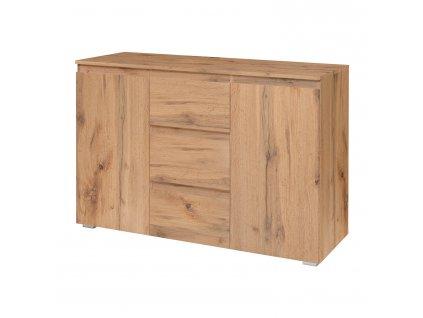 Komoda 2 dveře + 3 zásuvky IMAGE 4 zlatý dub