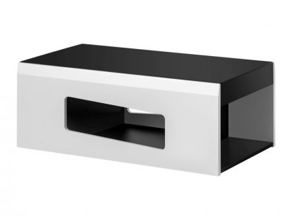 Rakel stolek k:bílý mat b: černé sklo