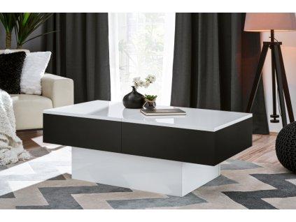 Slide stolek kávový černý mat/bílý hg