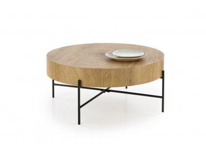 Brooklyn stolek dub přírodní/černý