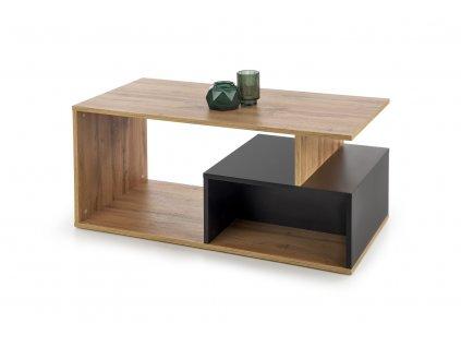 Combo stolek barva dub Wotan/černý