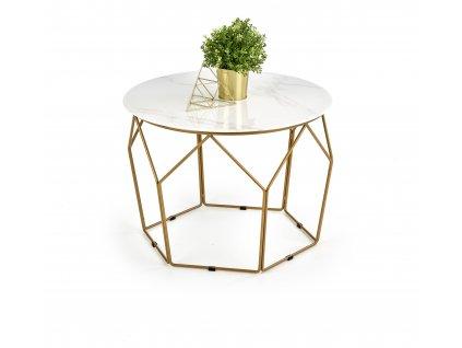 Madison stolek zlatý / mramor