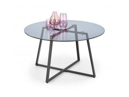 Zelda stolek, deska - kouřová, kostra - černá