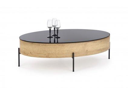 Zenga stolek s funkcí černý / dub zlatý