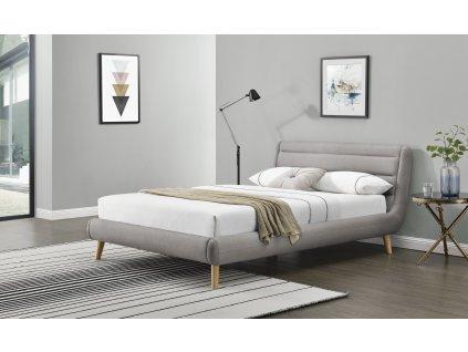 Elanda 180 cm postel světle šedá