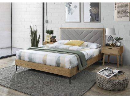 Margarita 160 postel šedá/přírodní