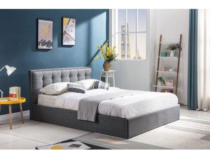 Padva 120cm postel s nádobou šedá