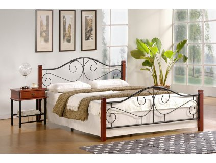Violetta 120 cm postel antická třešeň/černá