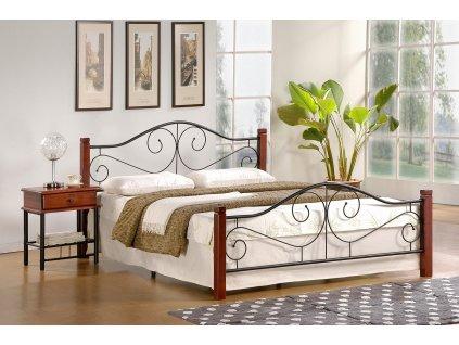 Violetta 140 cm postel antická třešeň/černá