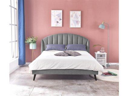 Yovella 160 postel šedá