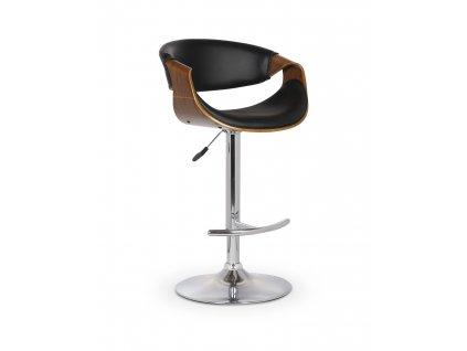 H100 barová židle ořechová / černá