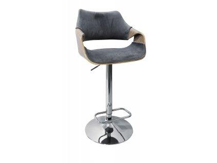 H98 barová židle světlý dub / šedá