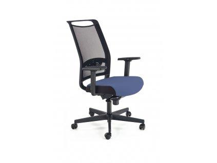 Gulietta křeslo kancelářské, opěradlo - síť, sedadlo - černé / modré - ERFECT6026