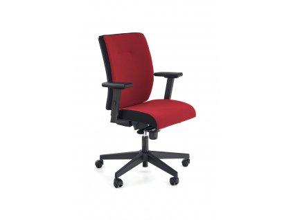 Pop křeslo kancelářské, barva: proužek postranní - černé RN60999, čelo - červené M04