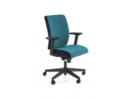 Pop křeslo kancelářské, barva: proužek postranní - černé RN60999, čelo - modré M31