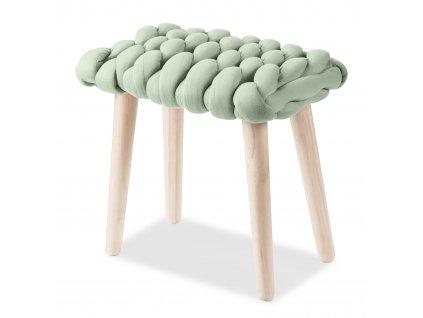 Yeti stolička světle zelená