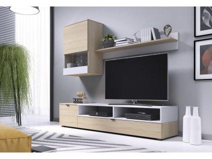 Snap nábytková stěna dub Sonoma / bílá mat
