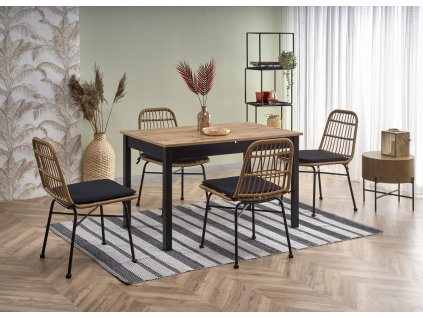 Greg stůl rozkládací barva dub Wotan/černý