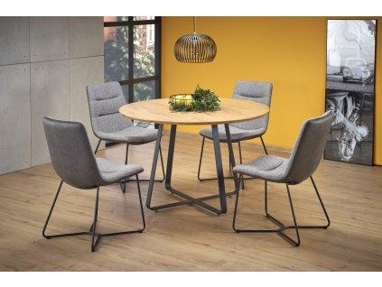 Looper 2 stůl, deska - dub zlatý, nohy - černé