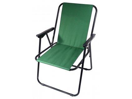 Židle kempingová skládací BERN zelená