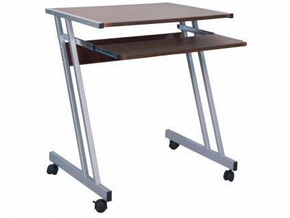 Psací stůl B233 tmavě hnědý / hliník