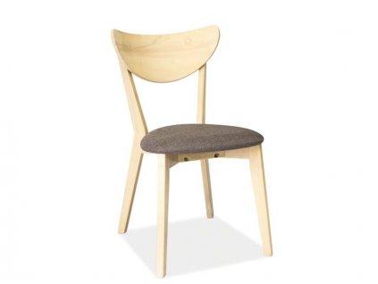 Židle CD-37 dub bělený/šedá polstrování.38