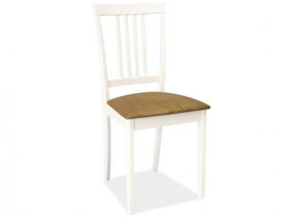 Židle CD-63 bílá polstrování.45