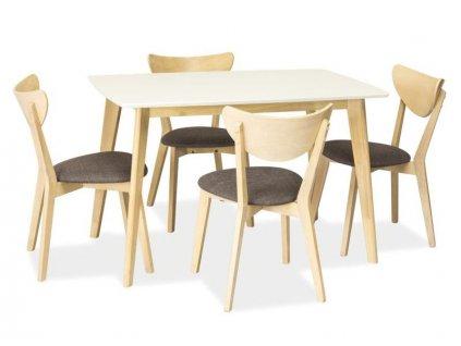 Stůl COMBO dub bělený/bílý