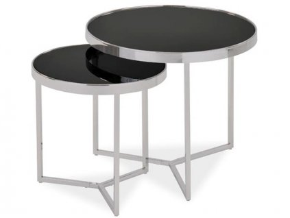 Konferenční stolek DELIA II černá/chrom (sada)