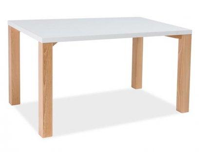 Stůl EGON bílý/buk 120x80