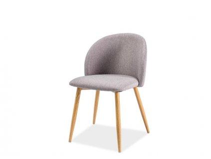 Židle ERIN šedý materiál