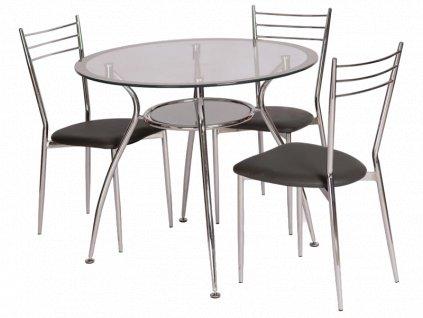 Stůl FINEZJA a stříbrný 90x90