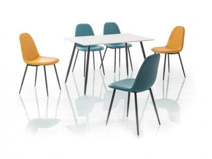 Stůl FLORO bílý/černý 120x80