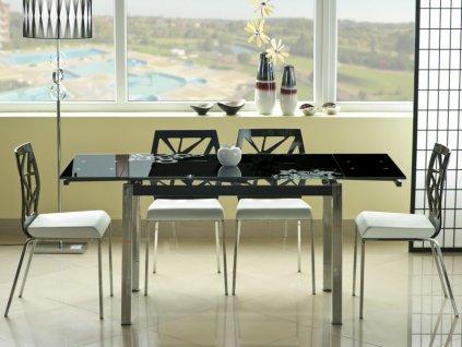 Stůl GD017 černý 110(170)x74