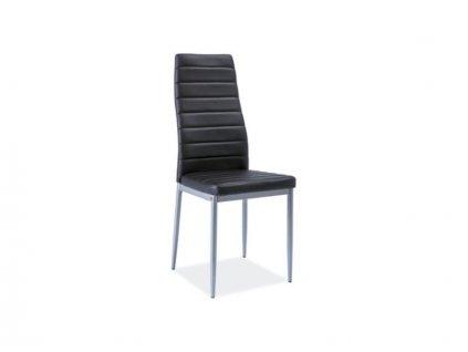 Židle H261 bis hliník rošt/černá