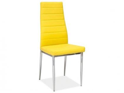 Židle H261 žlutá/chrom