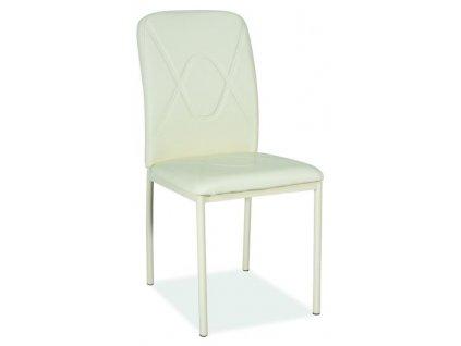 h623kk 00586 krzeslo h623 krem stelaz krem ekoskora