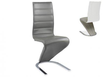 Židle H669 šedá/bílá zadní část