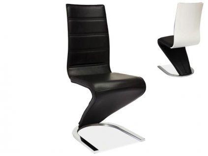 Židle H669 černá/bílá zadní část