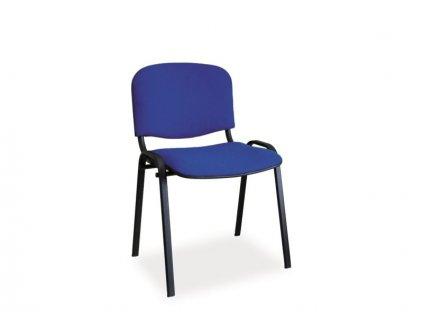 Židle ISO černá/modrá