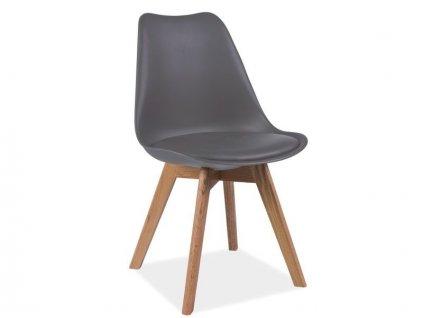 Židle KRIS dub/šedá