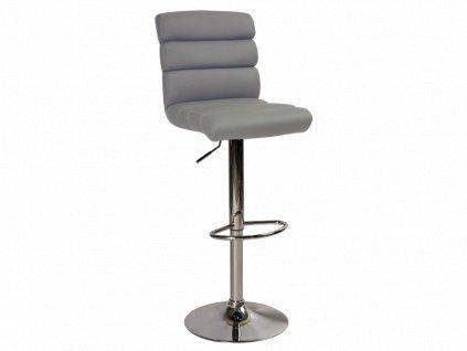 Barová židle C-617 šedý