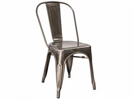 Židle LOFT ocel kartáčovaná