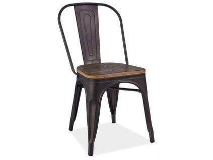 Židle LOFT tmavý ořech/antracit