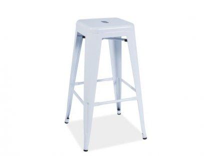 Barová židle LONG bílá