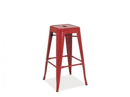 Barová židle LONG ČERVENÁ