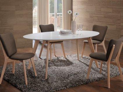 Stůl MONTANA dub bělený/bílý