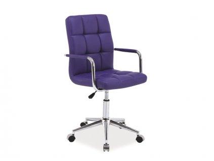 Křeslo otočné Q-022 fialové